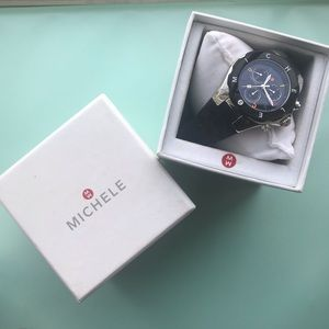 Michele Black and Multi Tahitian Jellybean Watch